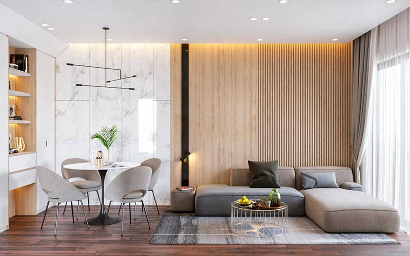 Mẫu Thiết kế nội thất phòng khách đẹp nhất dành cho không gian vừa và nhỏ