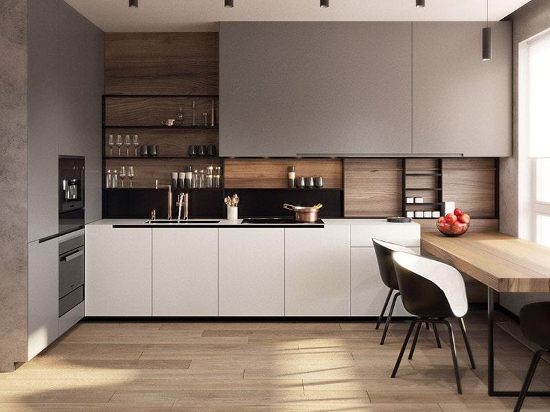 Kinh nghiệm làm tủ bếp cho ngôi nhà của bạn. Tủ bếp nhựa Acrylic chữ I phù hợp với gia đình có không gian bếp nhỏ và vừa bởi đây là mẫu tiết kiệm được diện tích 1 cách tối đa nhất