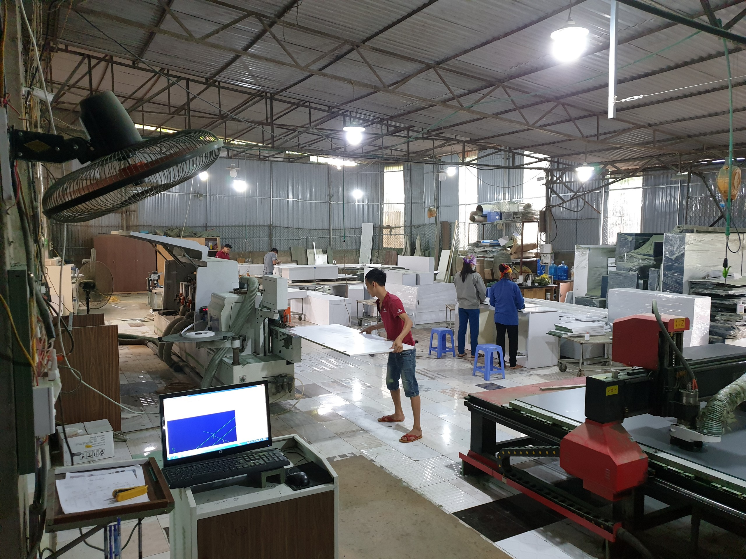 xưởng sản xuất của nội thất Vision