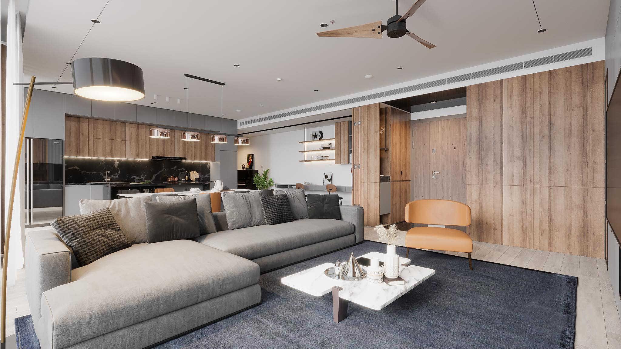 Mẫu Thiết kế nội thất phòng khách đẹp nhất, phong cách tinh tế và sang trọng
