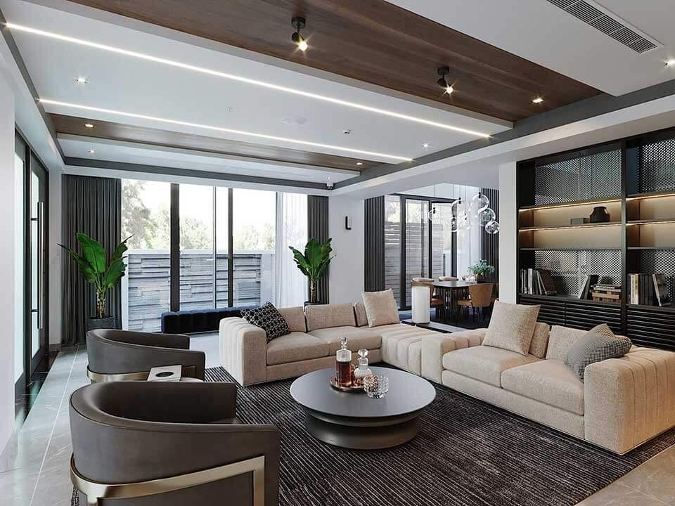 Mẫu Thiết kế nội thất phòng khách đẹp nhất dành cho không gian rộng